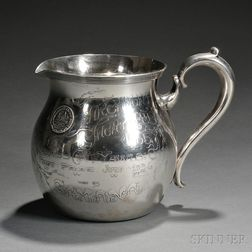 Whiting Sterling Silver Larchmont Yacht Club Trophy Pitcher