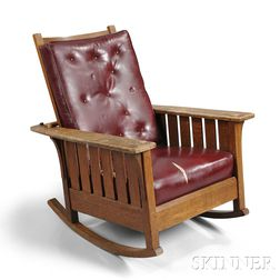 L. and J.G .Stickley Adjustable Rocking Chair