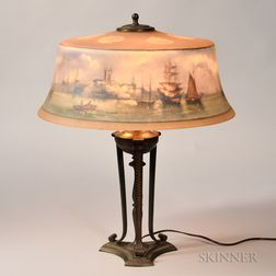 Pairpoint Reverse-painted Table Lamp