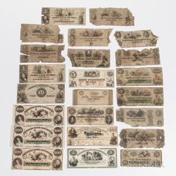 Approximately Twenty-three Obsolete Bank Notes