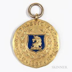 Dieges & Clust Boston Athletic Association 14kt Gold and Enamel Invitation Games Medal