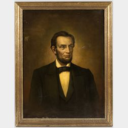 American School, 19th Century       Portrait of Abraham Lincoln