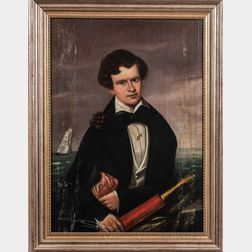 American School, Mid-19th Century      Portrait of a Young Sailor