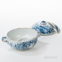 Tin-glazed Covered Wash Basin