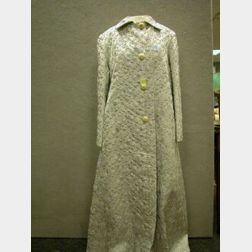 Vogue Silver and White Brocade Lady's Coat.