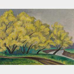 Josef Zenk (American, 1904-2000)      Spring Willows