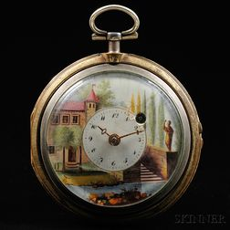 Silver Pair-cased Watch