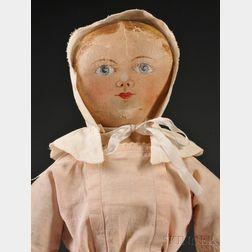 Maggie Bessie Painted Cloth Doll