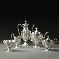 Five-piece Arthur Stone Sterling Silver Tea and Coffee Service