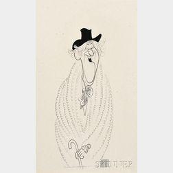 Al (Albert) Hirschfeld (American, 1903-2003)      Jack Gilford