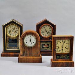 Four Rosewood Shelf Clocks