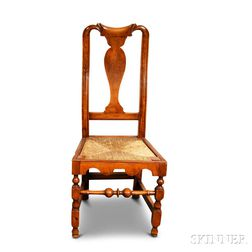 William and Mary Maple Side Chair