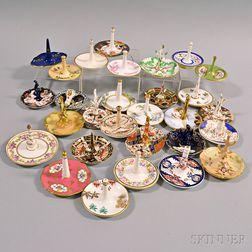 Twenty-nine Porcelain Ring Holders