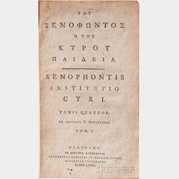 Xenophon (c. 430-355 BCE) Institutio Cyri.