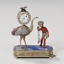 Viennese Silver-gilt Clock