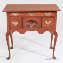 Queen Anne Carved Walnut Dressing Table