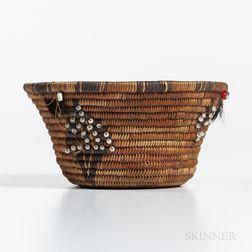 California Miniature Beaded Basket
