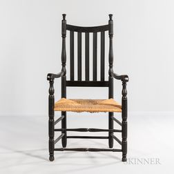 Painted Bannister-back Armchair
