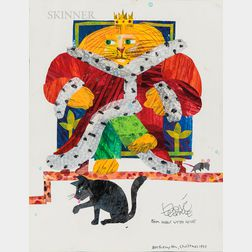Eric Carle (American, b. 1929)      King Cat and His Subjects