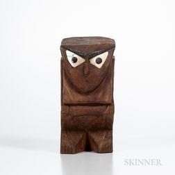 Tobi Island Wood Figure