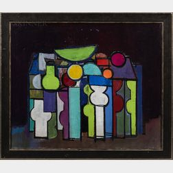 Attributed to Henry Kallem (American, 1912-1985)      Abstract Still Life.