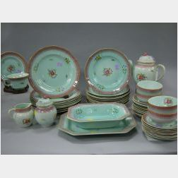 Forty-nine Piece Adams Calyx Ware Partial Dinner Service.