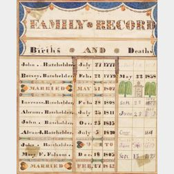 Batchelder Family Record