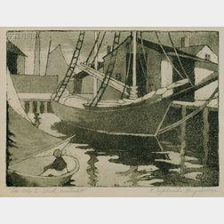 Ella Sophonisba Hergesheimer (American, b. 1943)      The Ada C. Shull, Nantucket.