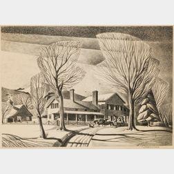 Dale Nichols (American, 1904-1995)      Sleigh Ride.