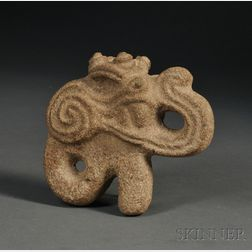 Pre-Columbian Carved Stone Hacha