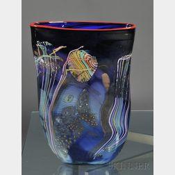 Chris Hawthorne Art Glass Vase