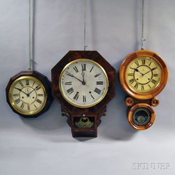Three Connecticut Wall Clocks