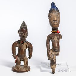 Two Female Ibeji Dolls