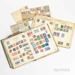 Hindenburg First Flight Stamped Envelope and a Group of World Stamps