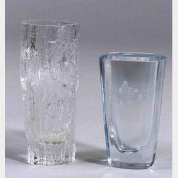 Two Scandinavian Glass Vases