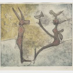 Roberto Matta (Chilean, 1911-2002)    Untitled.
