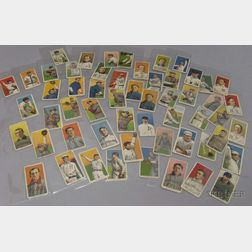 Fifty-three 1909-1911 T206 Sweet Caporal Cigarettes and Three Sovereign Cigarettes   Baseball Cards