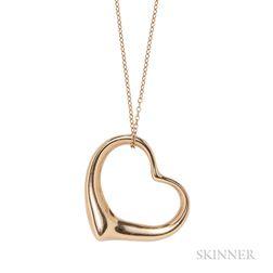 "18kt Gold ""Open Heart"" Pendant, Elsa Peretti for Tiffany & Co."