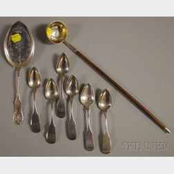 Eight Assorted Silver Flatware and Serving Items