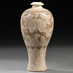Modern Buncheong Maebyeong   Vase