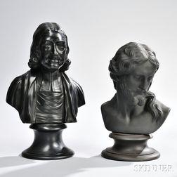 Two Wedgwood Black Basalt Busts