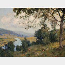 William Jurian Kaula (American, 1871-1953)      Apple Blossoms  /A Landscape