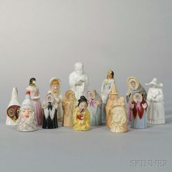 Fifteen Royal Worcester Porcelain Candle Extinguishers