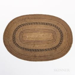 California Twined Basketry Mat