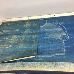 Thirty-six Naval Torpedo Boat Destroyer Boiler Blueprints