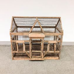 Wood and Wire Architectural Birdcage