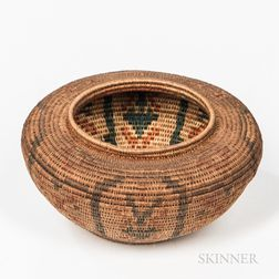 California Woven Basketry Bowl