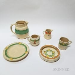 Six Pieces of Roseville Pottery