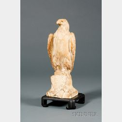 "Paul Wayland Bartlett  (American, 1865-1925)      Plaster Sculpture Mold ""American Eagle."""