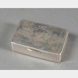 Wood & Hughes Coin Silver Snuff Box
